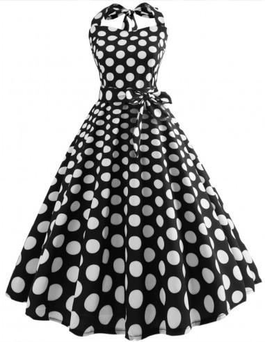 Vestido De Bolinha Anos 60 Festa Vintage Retrô Bola 50 PIN37
