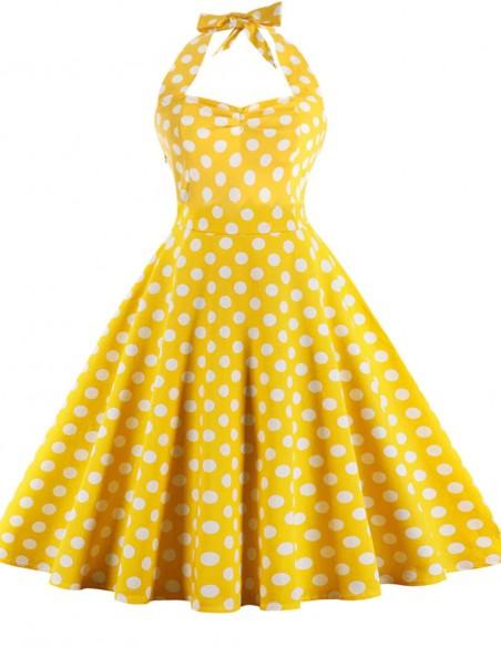 Vestido De Bolinha Anos 60 Festa Vintage Retrô Bola 50 PIN41