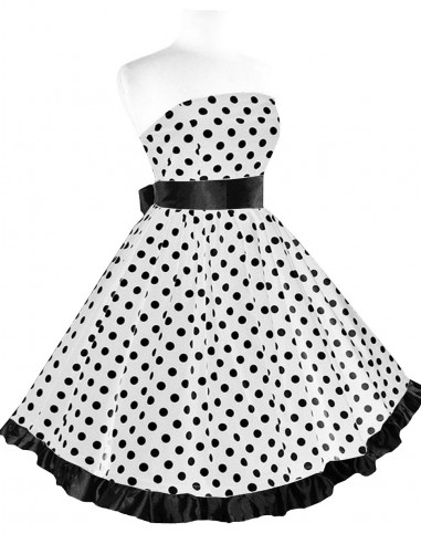 Vestido De Bolinha Anos 60 Festa Vintage Retrô Bola 50 PIN43