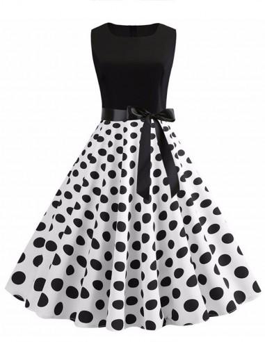 Vestido De Bolinha Anos 60 Festa Vintage Retrô Bola 50 PIN54