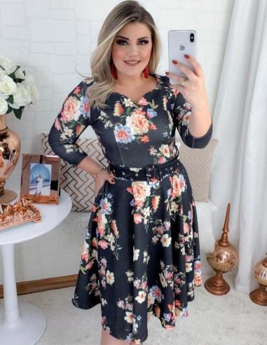 Vestido Floral Preto V02