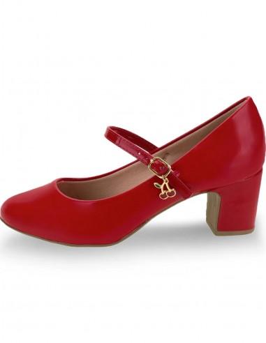 Sapato Boneca Vintage Vermelho S01
