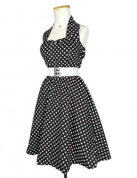 Vestido De Bolinha Anos 60 Festa Vintage Retrô Bola 50 Pin12 21