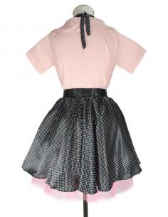 Vestido De Bolinha Anos 60 Black PIN02