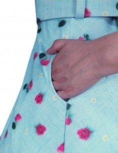 Vestido De Bolinha Anos 60 PIN33