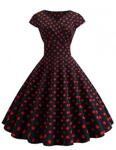 Vestido De Bolinha Anos 60 Festa Vintage Retrô Bola P48 01