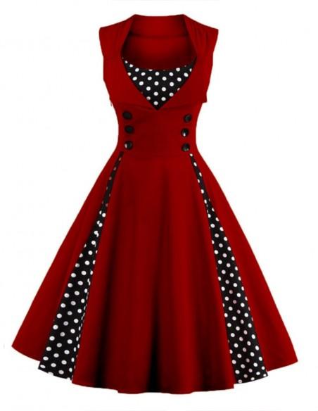 Vestido Retrô De Bolas Anos 60 Vintage Pinup 2.0