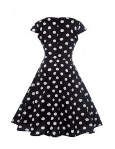 Vestido De Bolinha Anos 60 PIN45