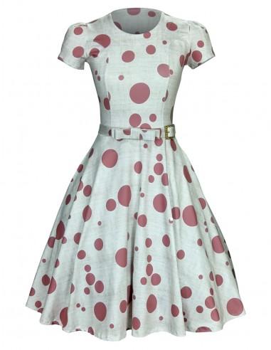 Vestido Feminino Retrô De Bolas Anos 60 Vintage Pinup 21