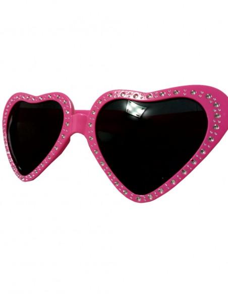 Óculos de Coração Retrô Vintage Anos 60 40