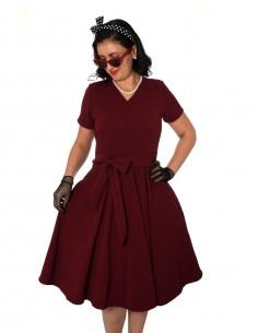 Vestido De Bolinha Anos 60 PIN39