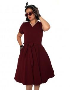 Vestido De Bolinha Anos 60 PIN40