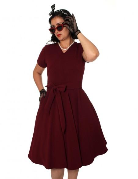 Vestido De Bolinha Vermelho P40