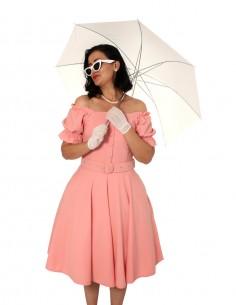 Vestido De Bolinha Branco PIN43