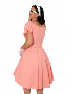 Vestido De Bolinha Anos 60 PIN43