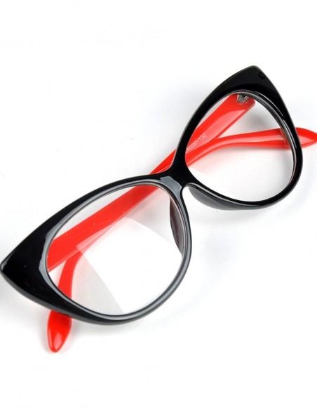 Óculos Feminino Gatinha Retro Anos 60 e 50 Vintage C Lente 21