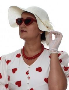 Vestido de bolinha festa fantasia anos 60 retrô para comprar PIN22