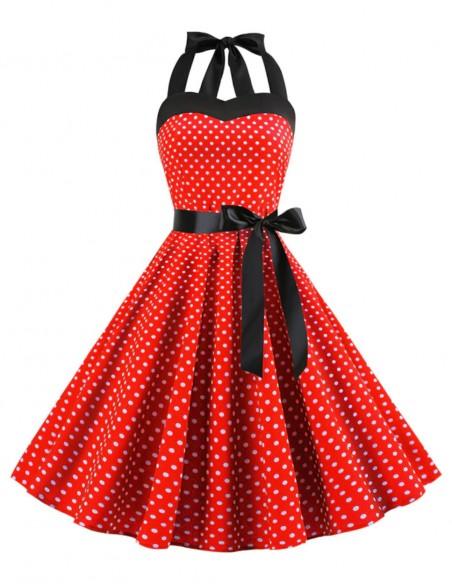 Vestido De Bolinha Anos 60 Festa Vintage Retrô Bola 50 Pin08 20