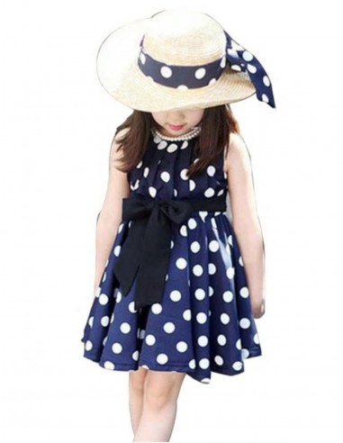 Vestido De Bolinha Infantil Anos 60 Festa Vintage Retrô PINi05