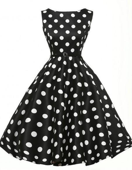 Vestido De Bolinha Anos 60 Festa Vintage Retrô Bola 50 Pin05