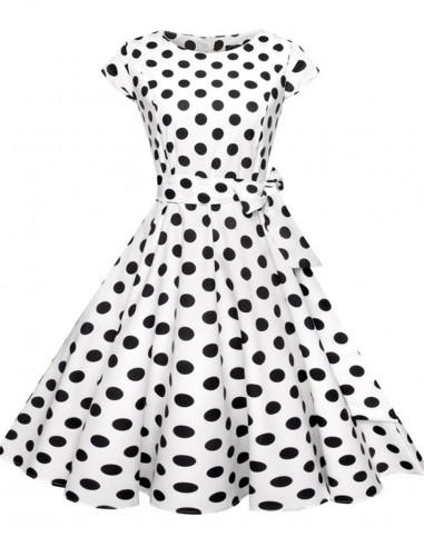 Vestido De Bolinha Anos 60 Festa Vintage Retrô Bola 50 Pin06