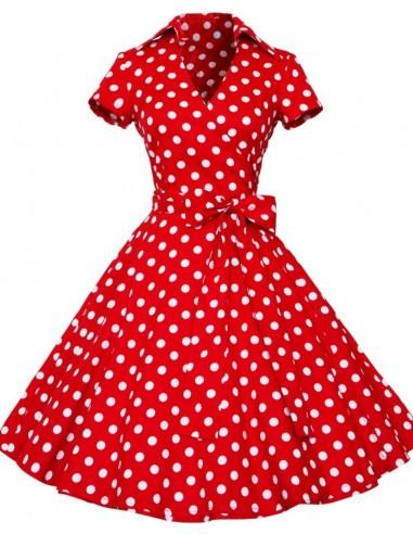 Vestido De Bolinha Anos 60 Festa Vintage Retrô Bola 50 Pin07