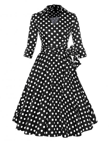 Vestido De Bolinha Anos 60 Festa Vintage Retrô Bola 50 Pin09