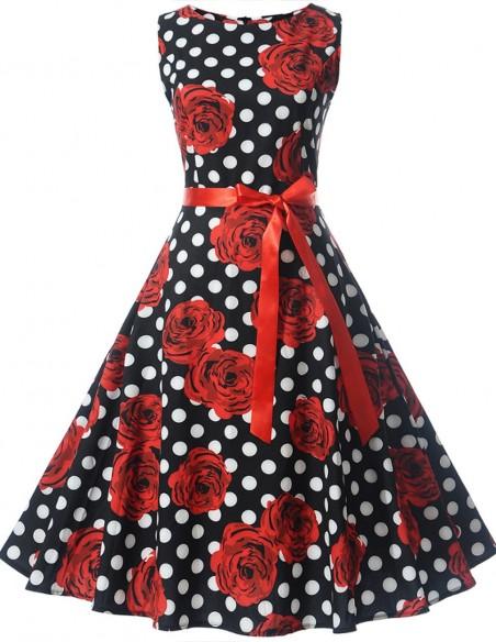 Vestido De Bolinha Anos 60 Festa Vintage Retrô Bola 50 Pin19